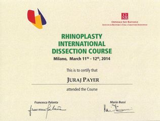 Certifikat o rhinoplastikach