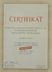 Certifikát kylni centrum
