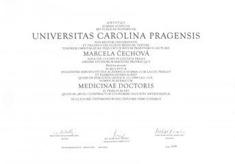 MUDr. Marcela Čechová, FEBU