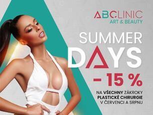 SUMMER DAYS –15 % NA VŠECHNY ZÁKROKY PLASTICKÉ CHIRURGIE