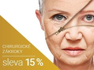 Chirurgické zákroky 15% sleva